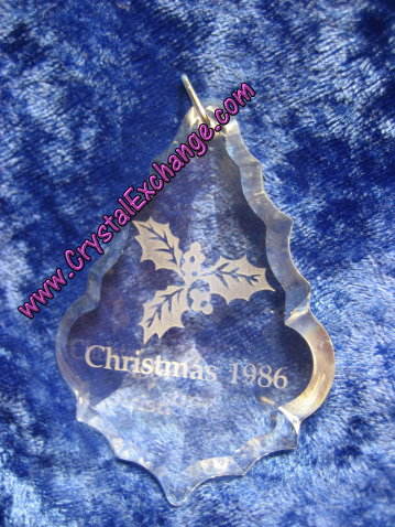 Swarovski Holiday Etchings Holly Ornament