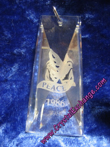 Swarovski Holiday Etchings Peace Ornament