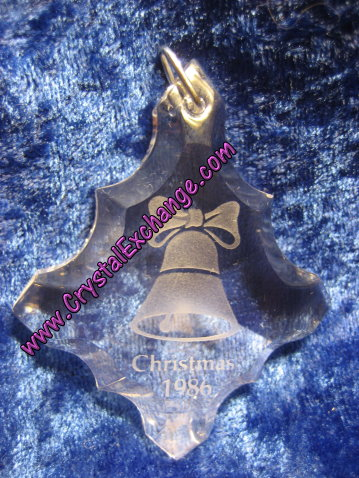 Swarovski Holiday Etchings Bell Ornament