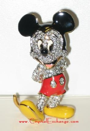 Arribas Jeweled Mickey Mouse, decorated with Swarovski stones