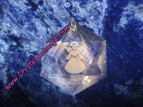 Swarovski Holiday Etchings Angel Ornament